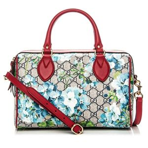 New Gucci Small Blooms Boston Top Handle Satchel